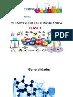 Quimica General e Inorganica Clase Semana 1 2016-II
