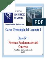 Clase 01 Nociones Fundamentales Del Concreto