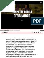 Www Revistaanfibia Com Ensayo Simpatia La Desigualdad