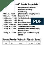holt2017-2018 schedule