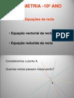 equação Vectorial e Equação Reduzida