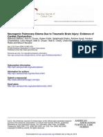 Neurogenic Pulmonary Edema Due to Traumatic Brain Injury Evidence of Cardiac Dysfunction
