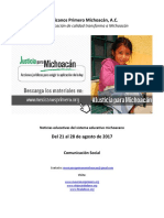 Síntesis Educativa Michoacán del 28.07.2017
