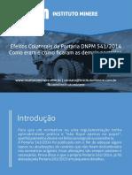 E-book Alterações Consequentes Da Portaria DNPM 541, De 18 de Dezembro de 2014