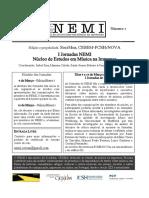 Cartaz e Programa I Jornada NEMI - GTCC/CESEM