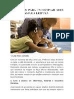 8 Truques Para Incentivar Seus Filhos a Amar a Leitura