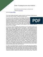 """Chimamanda Adichie - """"O perigo de uma única história"""" (1).pdf"""