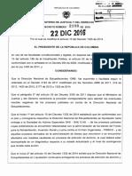 DECRETO 2108 DEL 22 DE DICIEMBRE DE 2016 DIRECCION NACIONAL DE ESTUPEFACIENTES.pdf