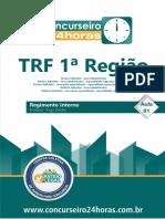 Regimento TRF 1 esquematizado
