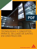 Tecnologías y Conceptos Para El Sellado de Juntas