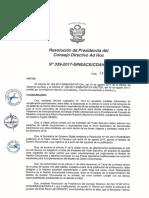 Resolución N°339-2017-SINEACE-CDAH-P