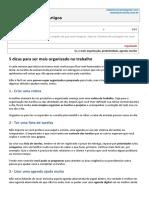 RafaelHonorato_ART-0007R_5 Dicas Para Ser Mais Organizado No Trabalho