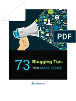 73 Blogging Tips That Make Sense