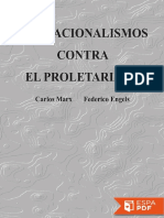 Los Nacionalismos Contra El Pro - Karl Marx