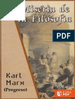 Miseria de La Filosofia - Karl Marx
