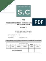 Reconocimiento de Accesos y Plataformas de Perforación