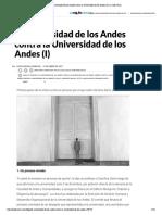 La universidad de los Andes contra la Universidad de los Andes (I) _ La Silla Vacía