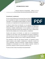 Curso Sena-Manejo de Herramientas MS Excel