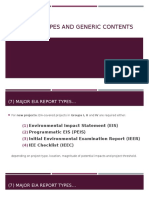 EIA Report Types and Generic Contents