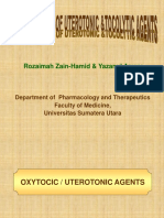 Pharmacology of Uterotonics & Tocolytics