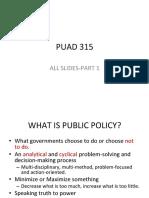 Puad315 Slides Part1