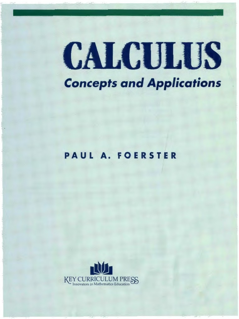 Calculus concepts and applications integral differential calculus fandeluxe Gallery