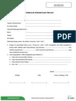 Formulir Permintaan Privasi