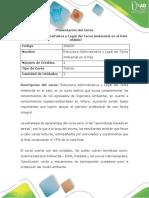 Presentación Curso Estructura Administrativa y Legal Del Tema Ambiental en El País