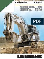 Catalogo Excavadora Hidraulica r9250 Liebherr