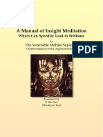 A Manual of Insight Meditation
