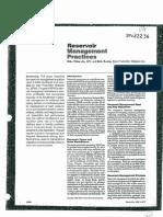 Reservoir Management Practies Spe 22236
