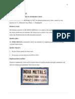 TRaining Report India Metals (Repaired)