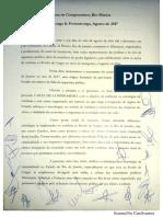 Carta de Compromisso Rio-Búzios
