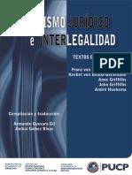 BENDA BECKMAN , FRANZ Et. Al. - Pluralismo Jurídico e Interlegalidad, Textos Esenciales