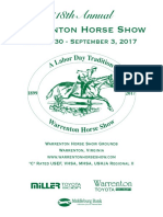 Warrenton Horse Show 2018 program