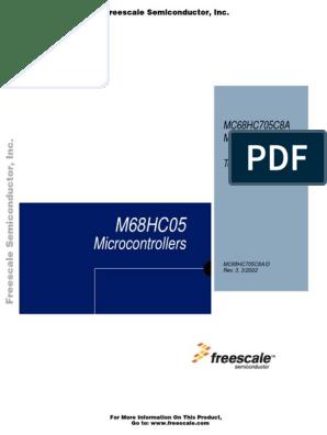 MOTOROLA MC68HC705C8P 40 PIN 8 Bit 24 I//O 4 MHz microcontroller