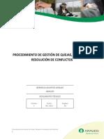 File 6702 8.- Gestión de Quejas Reclamos y Resolución de Conflictos (20120820)