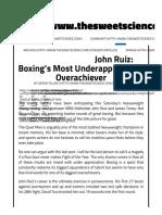 John Ruiz's Boxing Strategy