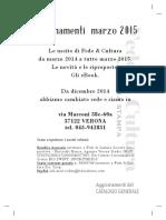 Catalogo Fede & Cultura 2015 Aggiornamenti
