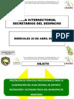 Plan Decenal Secretarios de Despacho Anapoima Abril 20 de 2016