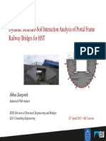 Dynamic Structure Soil Interaction Analysis of Portal Frame Railway Bridges for HST2