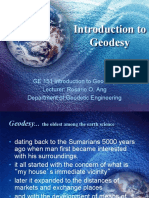 GE 151 Lecture 1 Introduction to Geodesy