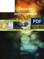 Security Management Quick Exploratory Self-Assessment Guide