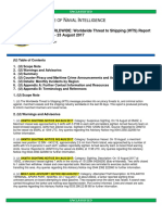 U.S. Navy Office of Naval Intelligence Worldwide Threat to Shipping (WTS) Report 24 July - 23 August 2017