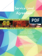 Service Level Agreement Quick Exploratory Self-Assessment Guide
