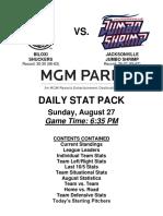 8.28.17 vs. JAX Stat Pack
