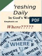 "Emphasis on ""Where"" -  September 2017"
