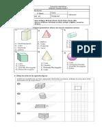 Evaluación Matemáticas Leer Horas Vistas de Figuras