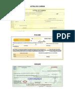 Clasificacion de Los Cheques