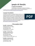 definiciones de lenguaje de interfaz